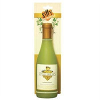 Vip Products Silly Sqeakers Kennel Relaxin Wine Bottle Dog Toy, Light Green
