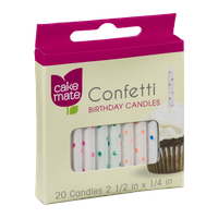 Cake Mate Confetti Birthday Candles - 20 CT