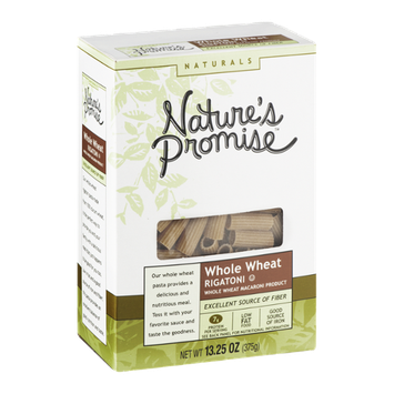Nature's Promise Naturals Whole Wheat Macaroni Product Rigatoni
