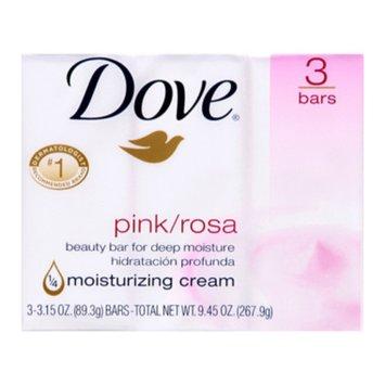 Dove Bar Soap - Pink, 3 ct