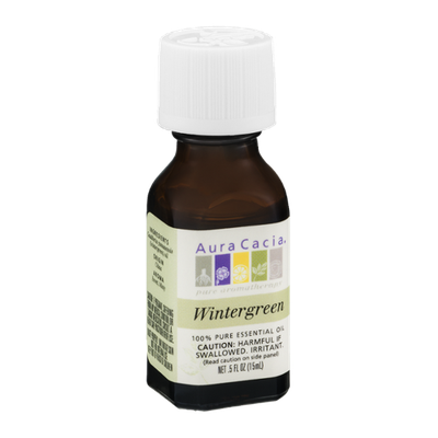 Aura Cacia Pure Aromatherapy 100% Pure Essential Oil Wintergreen