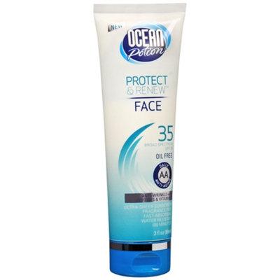 Ocean Potion Suncare Protect & Renew Face Anti-Aging Sheer Sunscreen Lotion, SPF 35, 3 fl oz