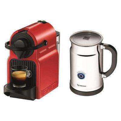 Nespresso Inissia Espresso Machine Bundle - Red