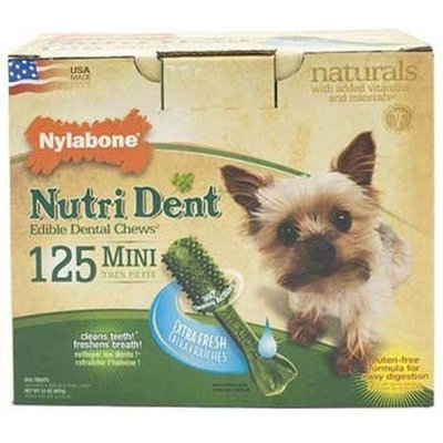 Nylabone Nutri Dent Extra Fresh, 125 Count Pantry Pack