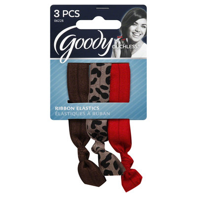Goody Products Inc. Ouchless Ribbon Elastics, Neutral Animal, 3CT