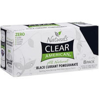 Clear American Black Currant Pomegranate Sparkling Water, 8ct