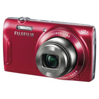 Fujifilm FinePix T550 16MP Digital Camera with 7.2x Optical Zoom - Red