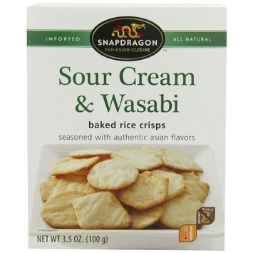 Snapdragon Baked Rice Crisps, Sour Cream and Wasabi, 3.5-Ounce (Pack of 6)