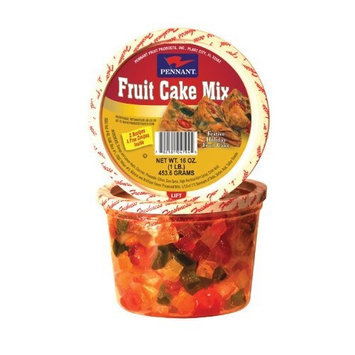 Pennant Fruit Cake Mix, 16 Ounce Tubs (Pack of 4)