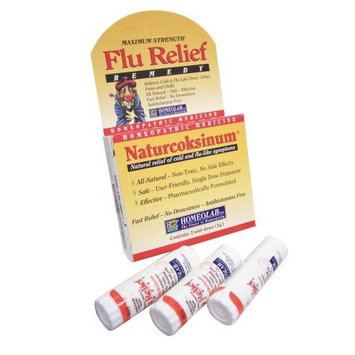 Homeolab USA Naturcoksinum Flu Relief Remedy, 3 Unit Doses (Pack of 3)