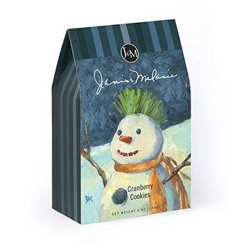JM Foods CRSM71 Cranberry Snowman Cookies 6 oz.