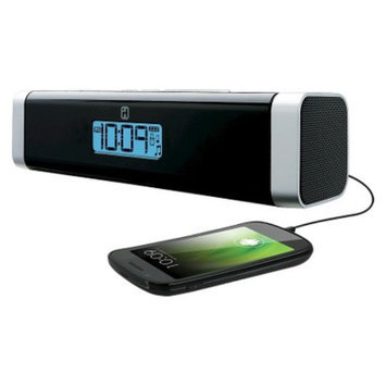 iHome Portable Alarm Clock with Stereo Speaker and USB Charger