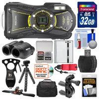 Ricoh WG-20 Shock & Waterproof Digital Camera, 8x22 Jupiter III+ Binoculars & Eat'n Tool Adventure Kit with 32GB Card + Case + Battery + Tripod + ATV/Bike Bracket & Mount Kit