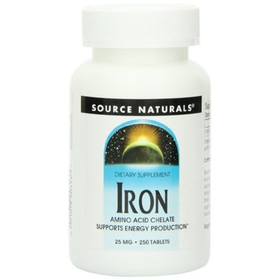 Source Naturals Iron Chelate 25mg, 250 Tablets