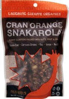 Laughing Giraffe Organics Snakarola Cran Orange 6 oz - Vegan