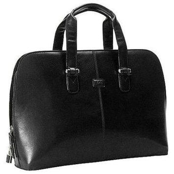 Tony Perotti Classic Zip Around Leather Laptop Bag (Black)