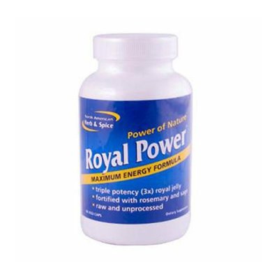 North American Hreb & Spice North American Herb and Spice Royal Power 90 Vegetarian Capsules