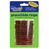 Busy Buddy Boots & Barkley Dog Gnawhide Ring - Medium