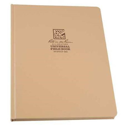 Rite In The Rain Pocket Notebook,80 Sheets, Tan Cover Model: 970TF-M