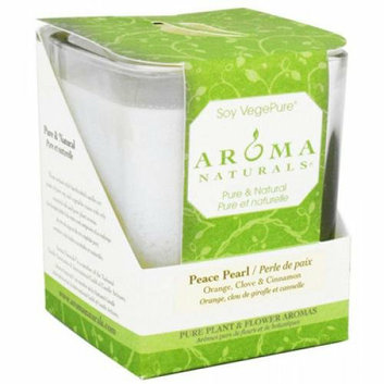 Aroma Naturals Soy Candle Peace White Large Glass