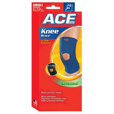ACE Neoprene Knee Brace with Side Stabilizers, Small