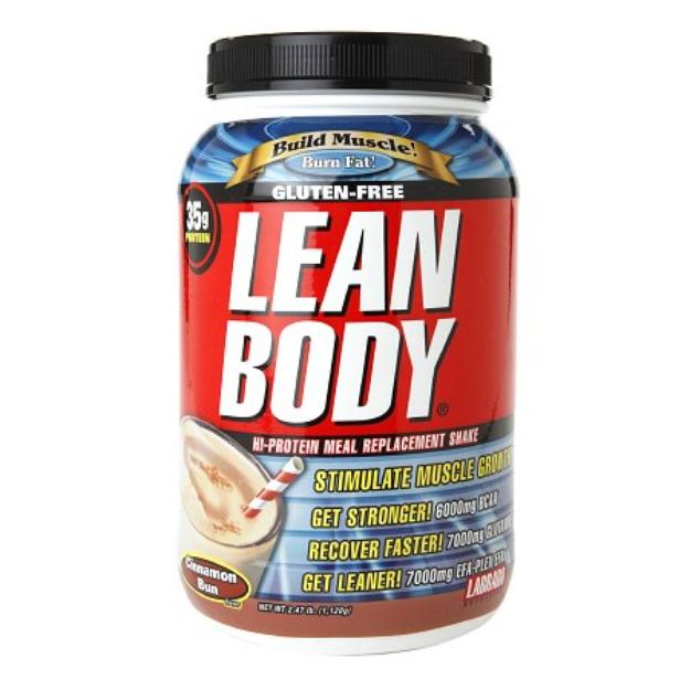 Labrada Nutrition Gluten-Free Lean Body Hi-Protein Meal Replacement Shake Cinnamon Bun