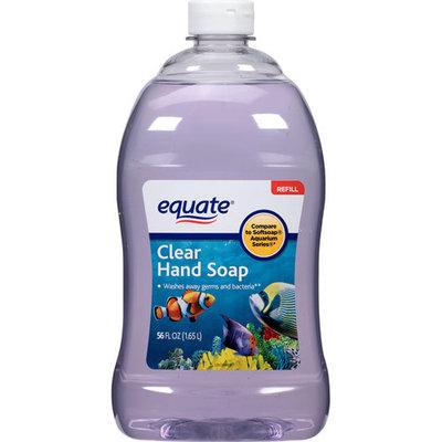 Equate Clear Liquid Hand Soap Refill, 56 fl oz
