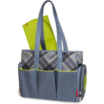 A.d. Sutton Fisher-Price Plaid Tote with Fastfinder Pocket System