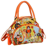 Kalencom Bellisima Sponge Nylon Continental Flair Bag, Hannah's Paisley (Discontinued by Manufacturer)