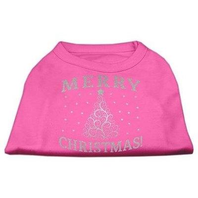 Ahi Shimmer Christmas Tree Pet Shirt Bright Pink XXXL (20)