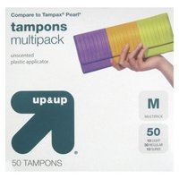 up & up up&up Unscented Plastic Applicator Tampons - 50 Count