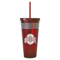 NCAA Ohio State Buckeyes Boelter Brands 2 Pack Bling Double Walled Tumbler