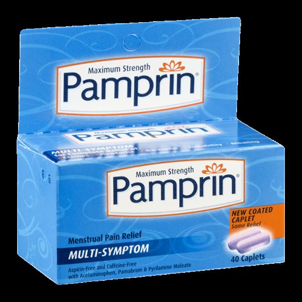 Pamprin Maximum Strength Multi-Symptom Menstrual Pain Relief Caplets