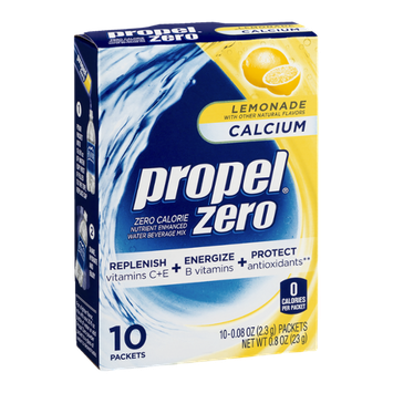 Propel Zero Calcium Lemonade - 10 CT