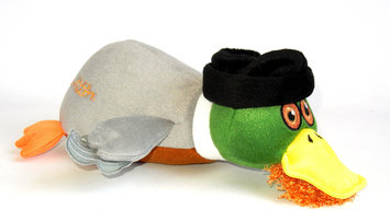 Quaker Pet Group Duck Dynasty Jase Duck Plush Dog Toy Small