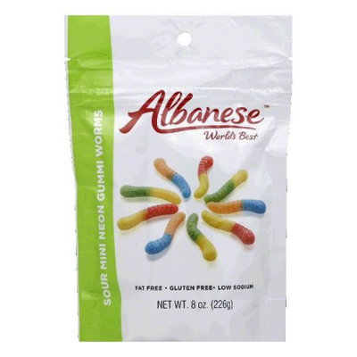 Albanese Confectionery Albanese Neon Gummi Worms 8oz Pack of 6