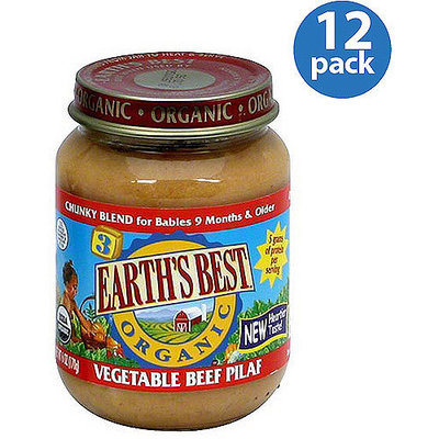 Earth's Best Vegetable Beef Pilaf Baby Food, 6 oz (Pack of 12)