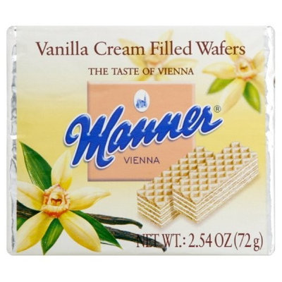 Manner Wafers Vanilla Pocket Pack, 2.54-Ounce (Pack of 12)