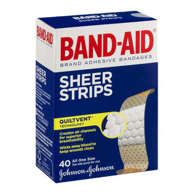 Band-Aid Sheer Strips Bandages - 40 CT