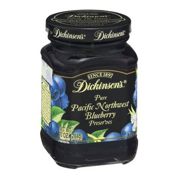 Dickinsons Blueberry Preserves, 10 OZ (Pack of 6)