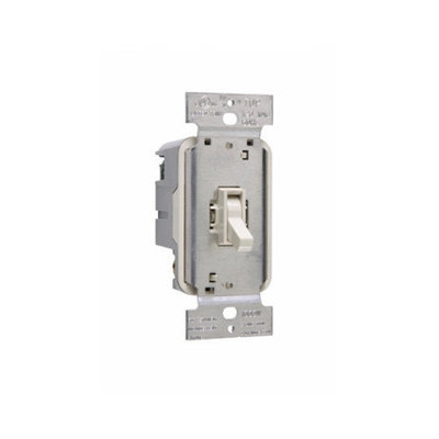 Legrand TradeMaster 1000W Three Way Toggle Dimmer with Housing in Light Almond