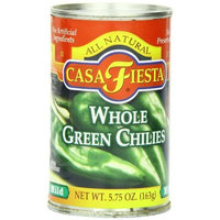 Casa Fiesta Whole Green Chilies, 5.75 Ounce (Pack of 24)
