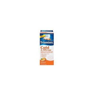 Triaminic Cold & Allergy Relief Liquid, Orange, 4 Oz