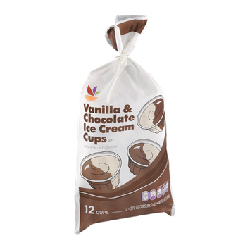 Ahold Vanilla & Chocolate Ice Cream Cups - 12 CT