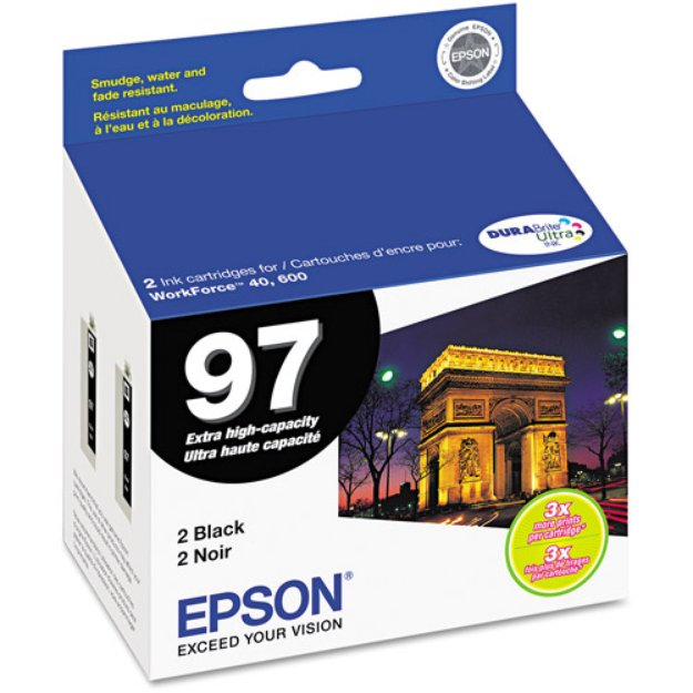 Epson T097120 (97) Extra High-Yield Ink, 450 Page-Yield, Black