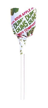 Dum Dum Lollipops, Sour Apple, 1-Lb Tub