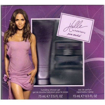 Halle Pure Orchid Gift Set - 2.5 Fl. Oz. Shower Gel and 0.5 Fl. Oz. Eau De Parfum by Halle Berry
