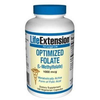 Life Extension Optimized Folate (l-methylfolate), 1000 Mcg, Tablets form, 100-Count