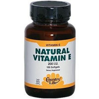 Country Life Vitamin E 200 I.u., 100-Count