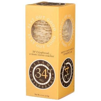34 Degrees Sesame Crispbread, 4.5-Ounce Boxes (Pack of 2 )